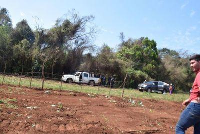 Campesinos huyeron antes la inminencia de desalojo en 3 de Mayo