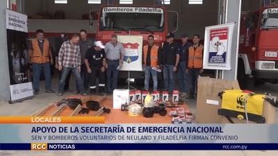 Entregan equipamientos para Bomberos Voluntarios del Chaco