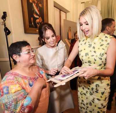 Ivanka Trump apreció lo mejor de la artesanía paraguaya