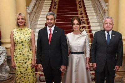 Ivanka Trump se reúne con Mario Abdo Benítez