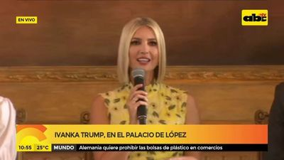 Ivanka Trump en el Palacio de López