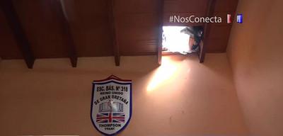 Roban merienda escolar de escuela en Ypané