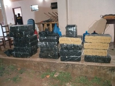 Cae cargamento de casi 400 kilos de marihuana en línea internacional Paraguay-Brasil