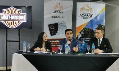 Hotel Casino Acaray premiará a sus clientes con una Harley