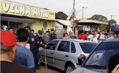 Asesinan a un hombre en plena línea internacional con Brasil