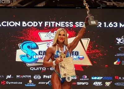 """Paraguayos lucen medallas en 1ª jornada del """"Suda"""" de fisiculturismo"""
