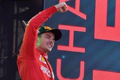 Charles Leclerc de Ferrari, gana el Gran Premio de Italia de F1