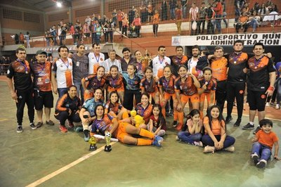 Hernandarias es bicampeón Nacional del fútbol de salón femenino