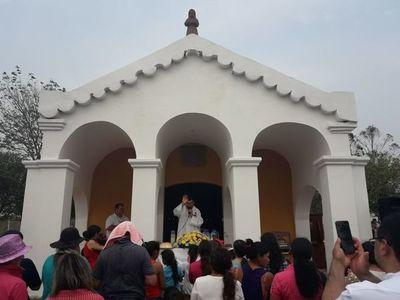 Reinauguran capilla Santa María Mi en San Ignacio