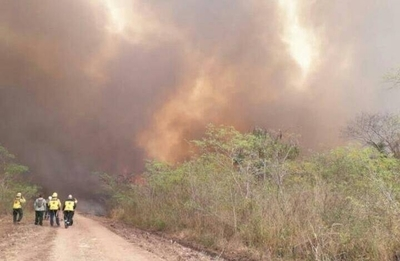 HOY / Incendio se propaga rápidamente en territorio chaqueño