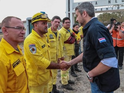 El presidente arribó al Chaco por tema de incendios forestales