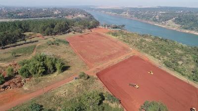 Avanzan trabajos de terraplenado en cabecera del futuro puente para instalación de base operativa