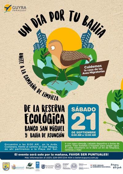 Convocan a la ciudadanía a participar de la campaña de limpieza de la Bahía de Asunción