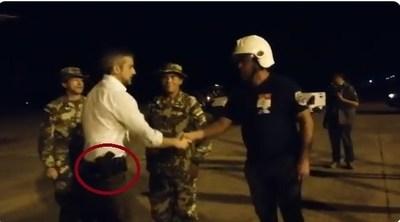Mario Abdo llegó armado en el Chaco paraguayo