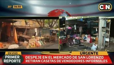 Desalojan a vendedores del Mercado de San Lorenzo