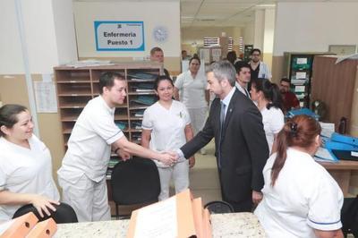 """Gobierno verifica mejoras y anuncia importantes obras para el Hospital del Trauma """"Prof. Dr. Manuel Giagni"""""""