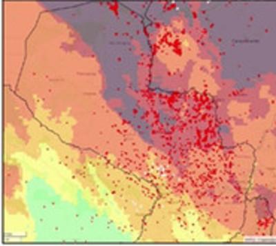Detectan más de 7.000 focos de calor en todo el país