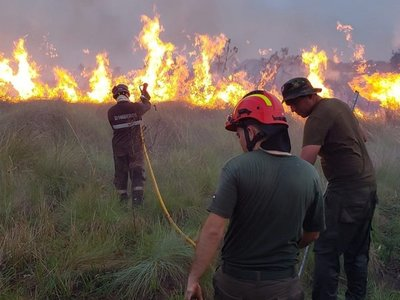 Brasileños dispararon contra bomberos que combatían incendio forestal