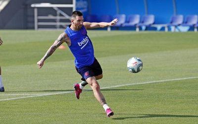 Messi sigue entrenando diferenciado
