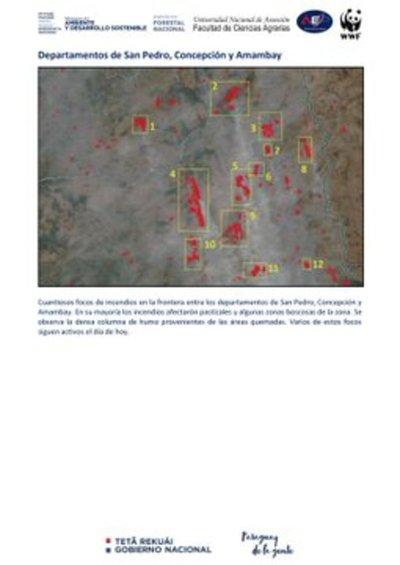 Incendio forestal en San Pedro afectó a unas nueve comunidades indígenas