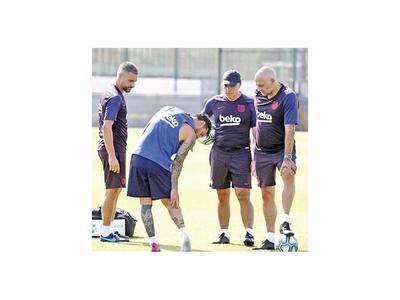 Suárez volvió, Messi no