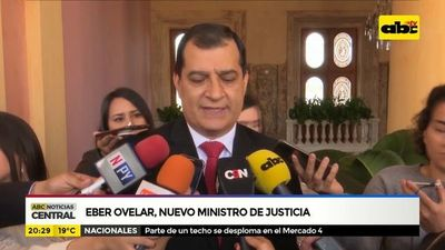 Éber Ovelar, nuevo ministro de justicia