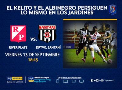 Lucha por el promedio entre River Plate y Deportivo Santaní