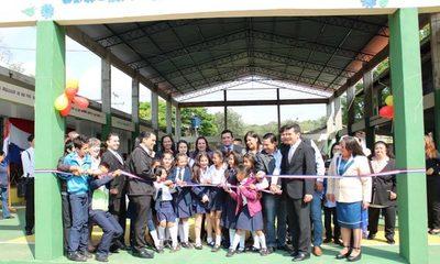 Inauguran obras en escuela de Presidente Franco