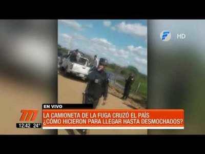 """Camioneta vinculada a la fuga de """"Samura"""" cruzó el país"""