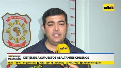Detienen a asaltantes chilenos