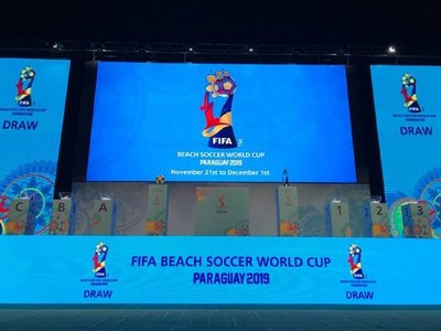 Los grupos para el Mundial de Fútbol de Playa