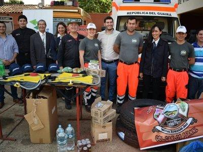 Guairá: Donan insumos forestales a bomberos voluntarios
