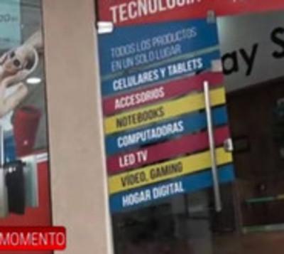 Desvalijan tienda de electrónica en Villa Morra