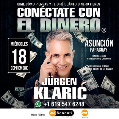 """Jürgen Klaric llega a Paraguay con su conferencia """"Conéctate con el Dinero"""""""