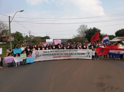 Familiares de policías esperarán al ministro Villamayor en Misiones