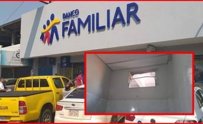 Intentan robar en Banco Familiar del Mercado de Abasto