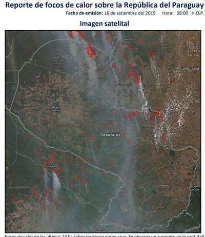 Aumentan focos de calor en el Chaco y norte del país