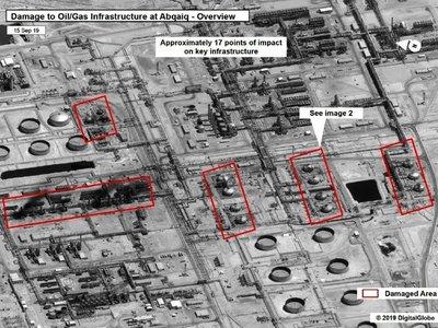 Precios del petróleo se disparan tras los ataques a refinería saudita