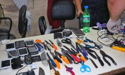 Requisa en Buen Pastor: Incautaron gran cantidad celulares y armas blancas