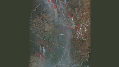 Fuego acecha Asunción