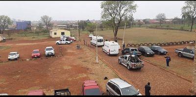 Máxima seguridad para trasladar a 22 reos de la cárcel al Palacio de Justicia de Pedro Juan