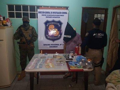 Cae microtraficante con dosis de droga en Pedro Juan Caballero