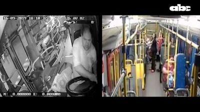 Cámaras internas del bus captaron el accidente en el que murió la estudiante de psicología