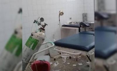 HOY / Cayó el techo y Centro de Salud de Mallorquín queda sin sala de parto