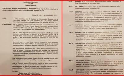 """Declaran """"Paro Académico Activo"""" en la UNE"""