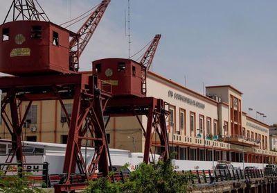 Inicio de la restauración del edificio del puerto de Asunción
