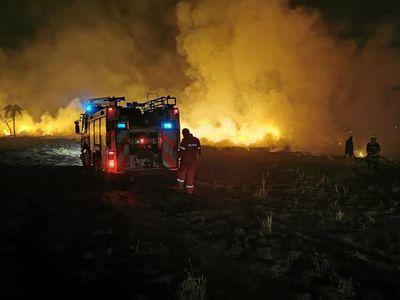 Quema de basura desata incendio en Hernandarias