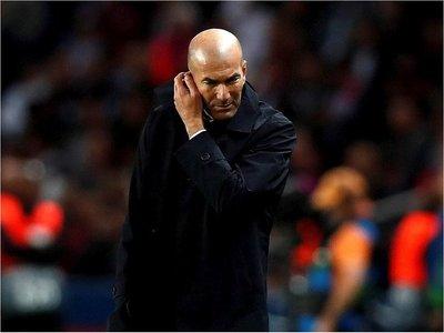 Zidane, molesto tras la goleada en París
