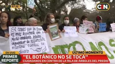 Manifestantes se instalan en el Botánico para evitar tala de árboles