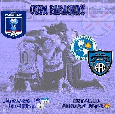 Atyra y Sol de América por el último clasificado a la siguiente fase de la Copa Paraguay
